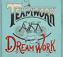 Teamwork Makes the Dream Work -- Blue and Red by Michelle Arguelles