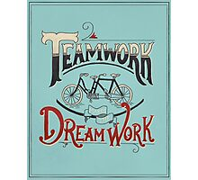 Teamwork Makes the Dream Work -- Blue and Red Photographic Print