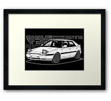 Mazda 323f BG MANGA BLACK Framed Print