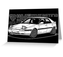 Mazda 323f BG MANGA BLACK Greeting Card