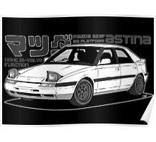 Mazda 323f BG MANGA BLACK Poster