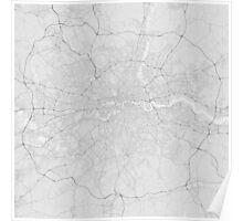 London, England Map. (Black on white) Poster