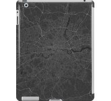 London, England Map. (White on black) iPad Case/Skin