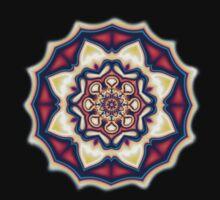 Mandala kaleidoscope geometric fractal symbol 1 One Piece - Long Sleeve