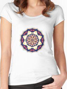 Mandala kaleidoscope geometric fractal symbol 1 Women's Fitted Scoop T-Shirt