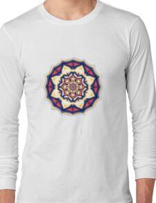 Mandala kaleidoscope geometric fractal symbol 1 Long Sleeve T-Shirt