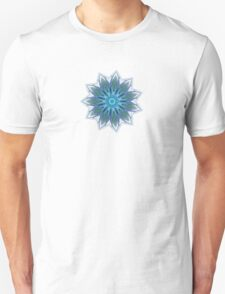 Fractal Flower - Blue Unisex T-Shirt
