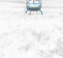 Blue Helicopter  Sticker