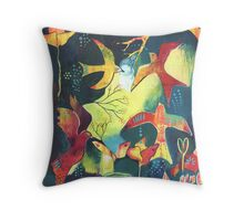 Arise - beautiful birds soaring Throw Pillow
