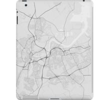 Middlesbrough, England Map. (Black on white) iPad Case/Skin