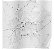 Middlesbrough, England Map. (Black on white) Poster