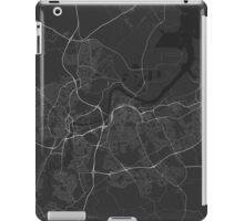 Middlesbrough, England Map. (White on black) iPad Case/Skin