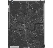 Newcastle, England Map. (White on black) iPad Case/Skin