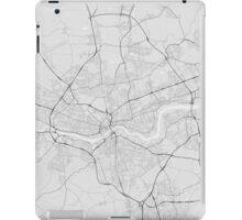 Newcastle, England Map. (Black on white) iPad Case/Skin