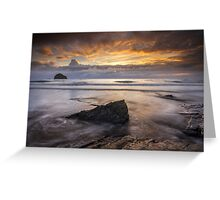 Cornwall - Trebarwith Sunset Greeting Card