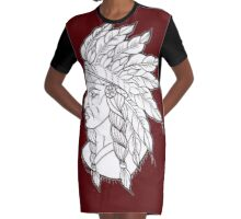 Native American Graphic T-Shirt Dress