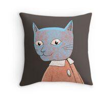 Cat Child Takes a Walk Throw Pillow