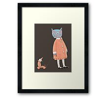 Cat Child Takes a Walk Framed Print