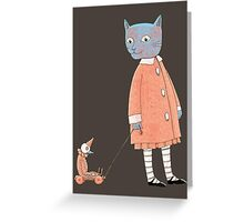 Cat Child Takes a Walk Greeting Card