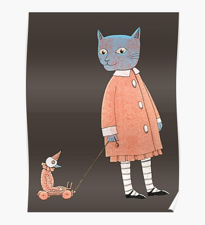 Cat Child Takes a Walk Poster