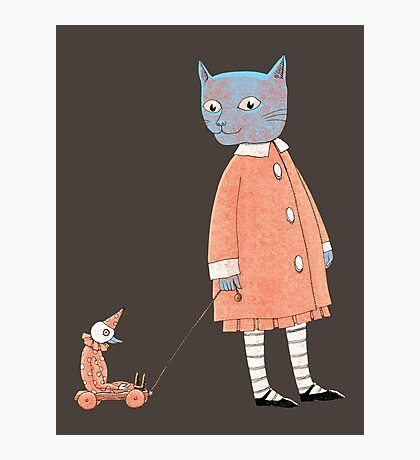 Cat Child Takes a Walk Photographic Print
