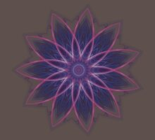 Fractal Flower - Purple Kids Clothes