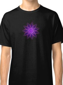 Fractal Flower - Purple Classic T-Shirt