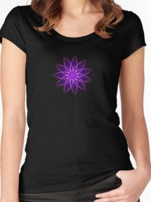 Fractal Flower - Purple Women's Fitted Scoop T-Shirt