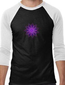 Fractal Flower - Purple Men's Baseball ¾ T-Shirt