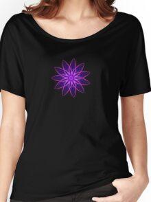 Fractal Flower - Purple Women's Relaxed Fit T-Shirt