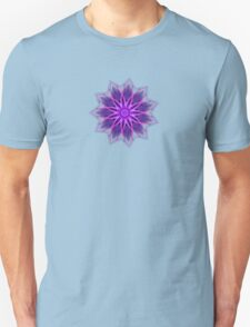 Fractal Flower - Purple Unisex T-Shirt