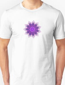 Fractal Flower - Purple Unisex T-Shirt