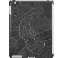 Nottingham, England Map. (White on black) iPad Case/Skin