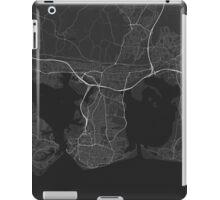 Portsmouth, England Map. (White on black) iPad Case/Skin