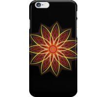 Fractal Flower - Red  iPhone Case/Skin