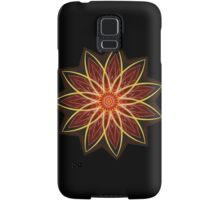 Fractal Flower - Red  Samsung Galaxy Case/Skin