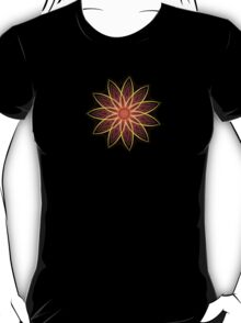 Fractal Flower - Red  T-Shirt