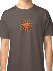 Fractal Flower - Red  Classic T-Shirt