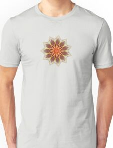 Fractal Flower - Red  Unisex T-Shirt