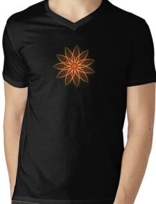 Fractal Flower - Red  Mens V-Neck T-Shirt