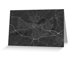 Reading, England Map. (White on black) Greeting Card