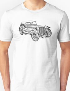 Mg Tc Antique Car Illustration T-Shirt