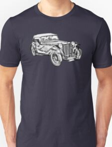 Mg Tc Antique Car Illustration T-Shirt