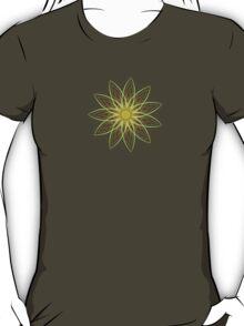 Fractal Flower-Yellow / Earthtones -geometric art T-Shirt