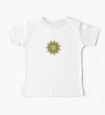 Fractal Flower-Yellow / Earthtones -geometric art Baby Tee