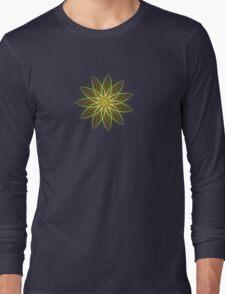 Fractal Flower-Yellow / Earthtones -geometric art Long Sleeve T-Shirt