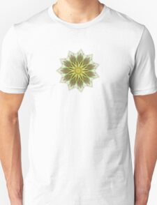Fractal Flower-Yellow / Earthtones -geometric art Unisex T-Shirt