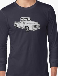 1955 F100 Ford Pickup Truck Illustration Long Sleeve T-Shirt