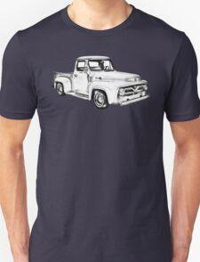 1955 F100 Ford Pickup Truck Illustration Unisex T-Shirt