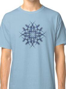 Barbed Blue - Fractal Art design Classic T-Shirt